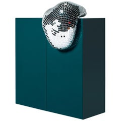 DISCO GUFRAM After Party High Cabinet in Steel Blue by Rotganzen