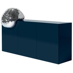 DISCO GUFRAM After Party Medium Cabinet in Ocean Blue by Rotganzen