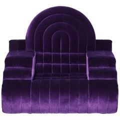 DISCO GUFRAM Stanley Armchair in Violet by Atelier Biagetti
