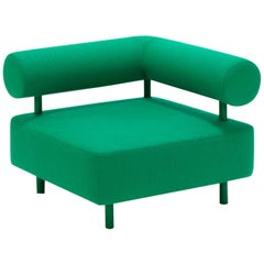 DISCO GUFRAM Charly Corner Chair in Green by Atelier Biagetti