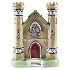 Antique Staffordshire Flatback Castle