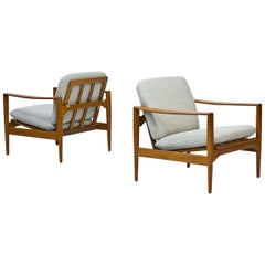 Scandinavian Modern Easy Chairs by Illum Wikkelsø for Niels Eilersen, Set of 2