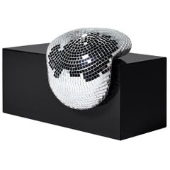 DISCO GUFRAM After Party Side Table in Jet Black by Rotganzen