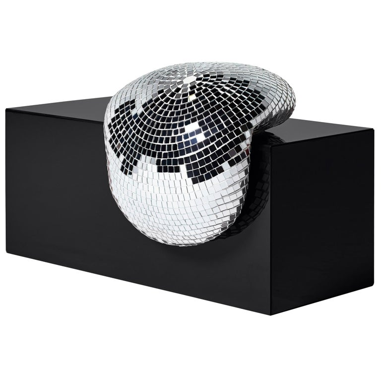 DISCO GUFRAM After Party Side Table in Jet Black by Rotganzen For Sale