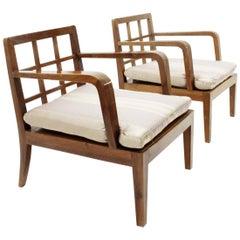 Italian Mid-Century Modernist Armchair, 1940s, Set of 2
