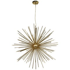 Cannonball Pendant Light in Brass with Gold-Plated Finish