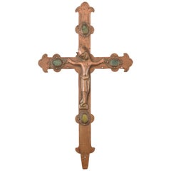 Processional Cross with Christ Copper, 14th Century