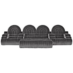 DISCO GUFRAM Stanley Sofa in Silver by Atelier Biagetti