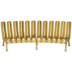 DISCO GUFRAM Jimmy Concave Sofa in Gold by Atelier Biagetti