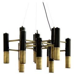 Ike suspension Light in Brass and Black