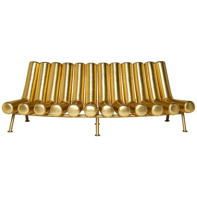 DISCO GUFRAM Jimmy Convex Sofa in Gold by Atelier Biagetti 1