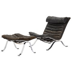 Arne Norell Ari Lounge Chair and Ottoman, 1970s, Sweden