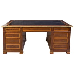 French Pedestal Desk, 19th Century