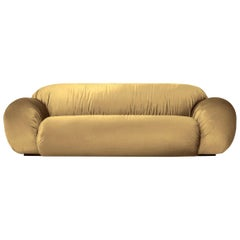 DISCO GUFRAM Betsy Sofa in Gold Velvet by Atelier Biagetti
