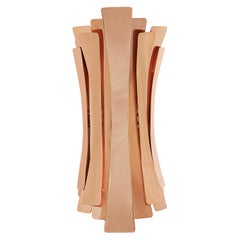 Etta Wall Light in Brass with Copper-Plated Finish
