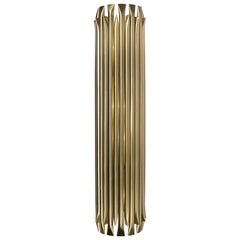 Matheny Large Wall Light in Brass with Brushed Nickel Finish