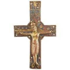 Crucifix 'Corpus Christi' Neogothic Frame, 20th Century, Limoges