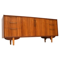 1960s Vintage Walnut & Zebrano Sideboard