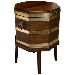19th Century Mahogany Brass Bound Octagonal Wine Cooler