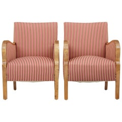 Pair of 1930s Scandinavian Birch Armchairs