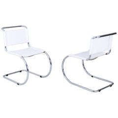 Bauhaus Classic MR 10 Chairs by Ludwig Mies van der Rohe Germany, 1980s