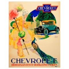Original Vintage Chevrolet Classic Car Advertising Poster Most Elegant Small Car