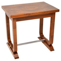 1920s, Art Deco Vintage Walnut Card Table / Side Table