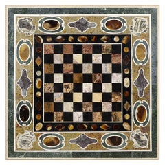 Pietra Dura 'Hard Stones Marquetry' Tabletop with Chess Board, 20th Century