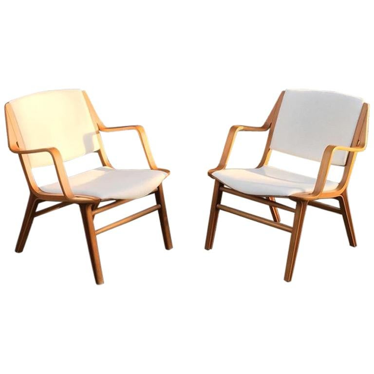 "Peter Hvidt ""AX"" Armchairs Produced by Fritz Hansen, circa 1960 1"