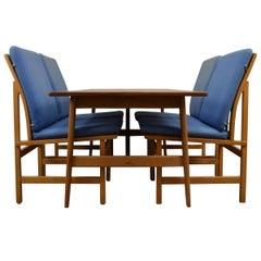 Vintage Børge Mogensen Teak/Oak Lounge Dining-Set #218 and #3232