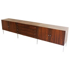 Poul Norreklit Rosewood Sideboard Produced by Sigurd Hansen Denmark, circa 1960