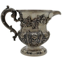 William IV Solid Silver Cream Jug by Barnard, London, 1834