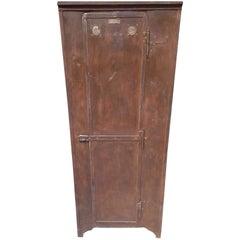 19th Century German Military Rust Metal Locker from Stuttgard, 1920-1930