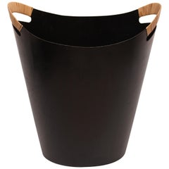 Paper Bucket in Black Metal with Papercord by Finn Juhl and Grethe Kornerup-Bang
