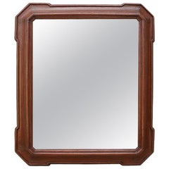 French Antique Wood Mirror, 19th Century