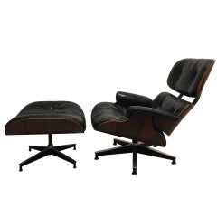"Eames ""Lounge Chair"" Produced by Herman Miller from 1975 in Rio Rosewood"
