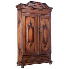Early 19th Century Swedish Baroque Pine Cabinet