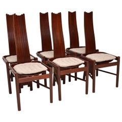 1970s Set of 6 Vintage Dining Chairs