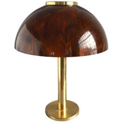 Dome Shade Brass Table Lamp, Germany, 1970s