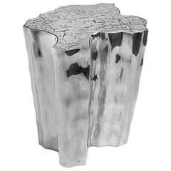 Himmel-Beistelltisch aus poliertem Aluminium