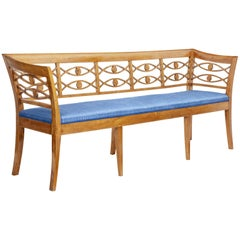 19th Century Scandinavian Birch Bench