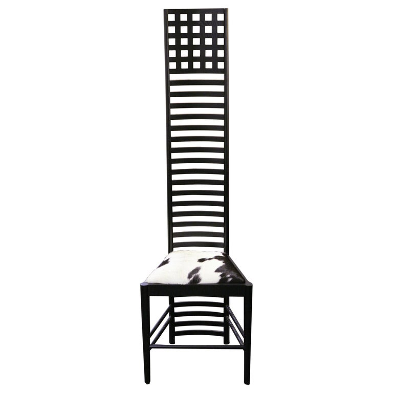 Pony 1 Macintosh Chair with Solid Ash Wood in Black Finish For Sale
