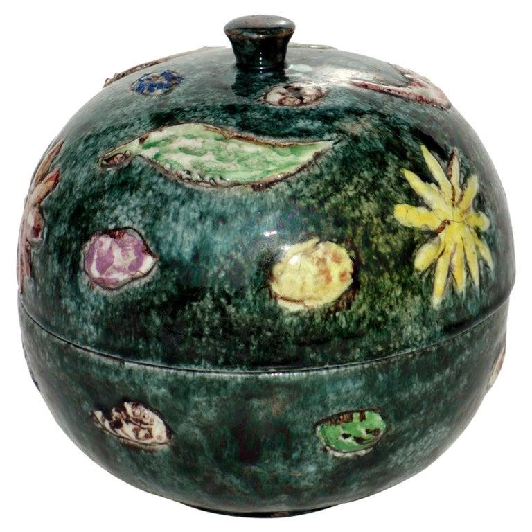 1970s by Tassinari Faenza Italian Pottery Ceramic Box For Sale