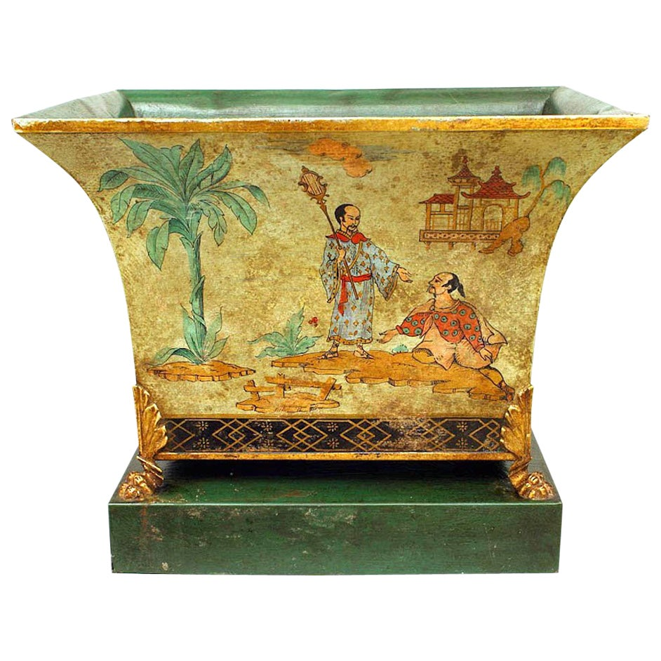 English Regency Style Chinoiserie Decorated Cachepot