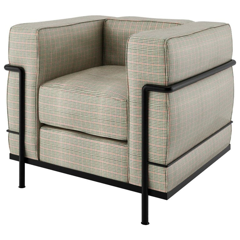 Contemporary LC2 Armchair Celebrating 100 Years Bauhaus and Le Corbusier For Sale