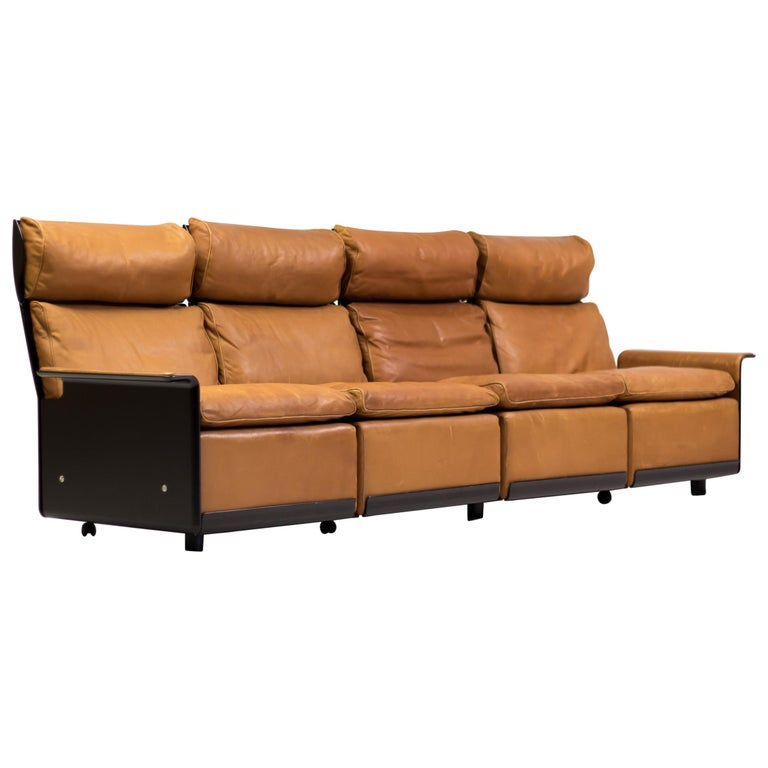 RZ 620 High Back Four-Seat Leather Sofa by Dieter Rams for Vitsoe