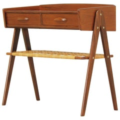 Danish Modern Caned-Shelf Night Stand