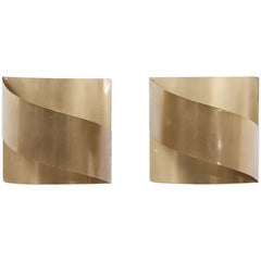 1960s Brass Wall-Mounted Lamps by Peter Celsing