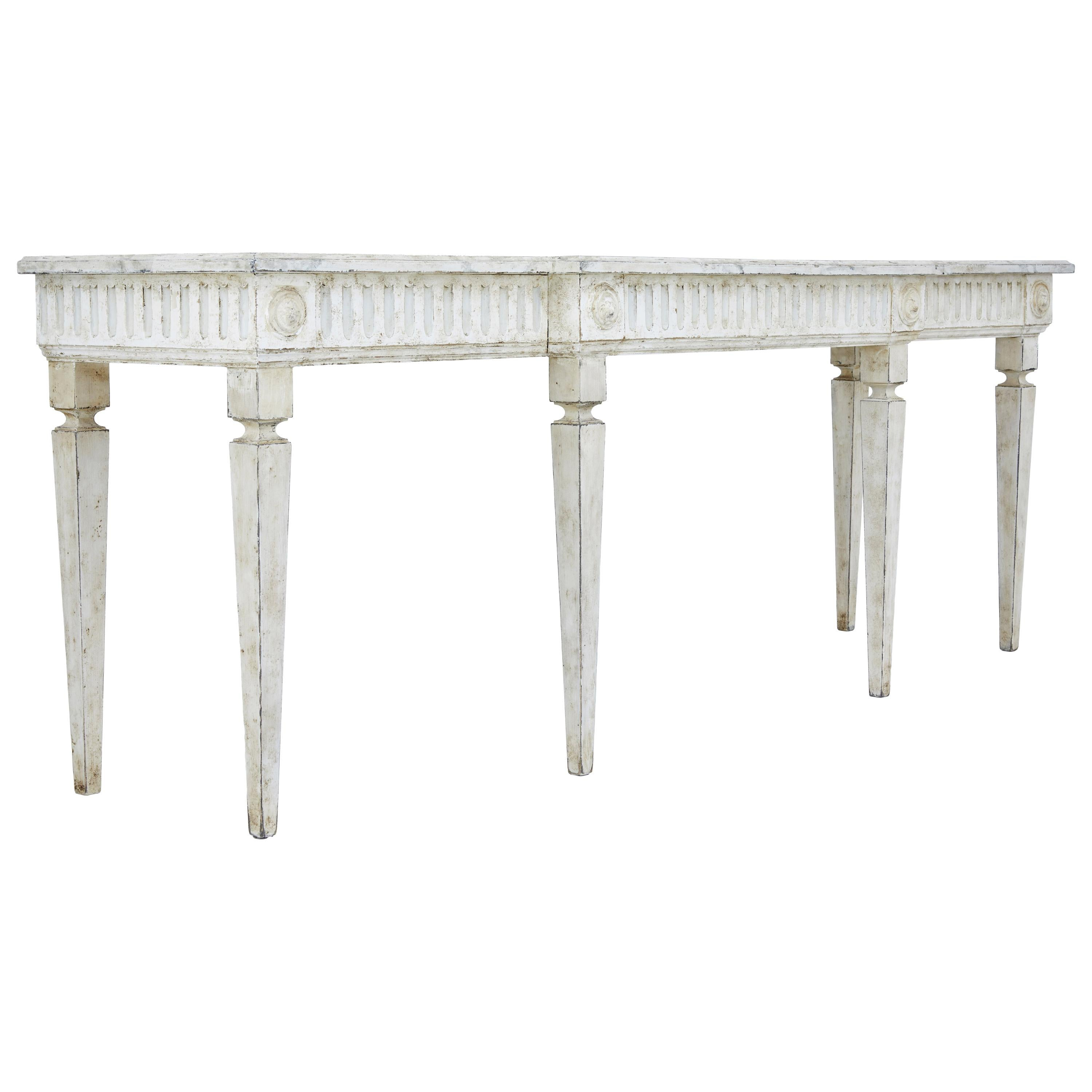 97d5e08a9aec6 Large Late 19th Century Painted Console Table at 1stdibs