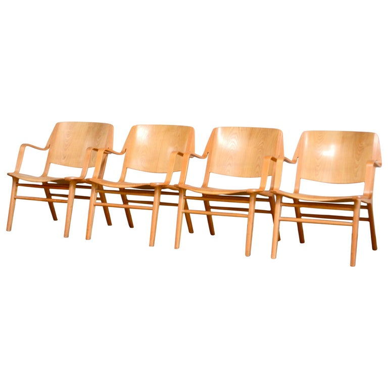 Peter Hvidt and Orla Mølgaard-Nielsen Ax Lounge Chair for Fritz Hansen For Sale